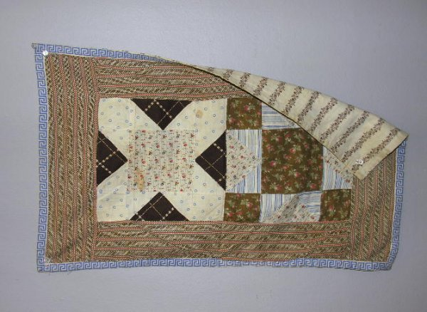 3: FIVE ANTIQUE DOLL QUILTS. Four Patch, Postage Stamp,