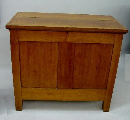 2: CHERRY SUGAR CHEST. Mellow old refinishing