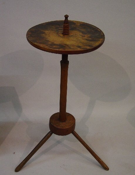 9: WINDSOR CANDLESTAND WITH  ADJUSTABLE TOP.