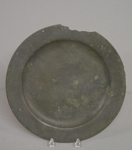 16: RARE PEWTER PLATE. Touchmark for Francis