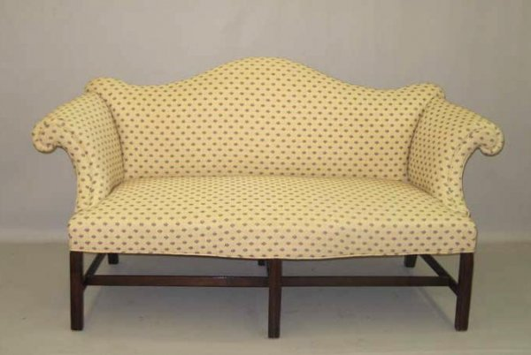 1004: CHIPPENDALE CAMEL-BACK SOFA. American or English.
