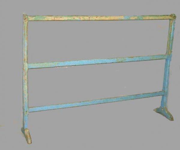 1450: PAINTED QUILT RACK. Large size triple bar rack wi