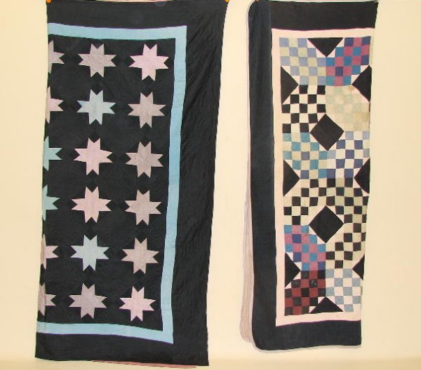 6: TWO AMISH QUILTS. Midwestern. Pictured is Irish Chai