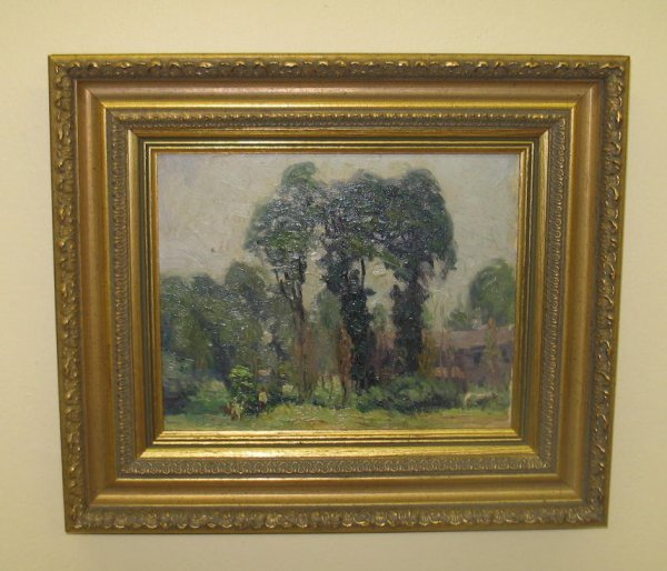 20: OIL ON BOARD PAINTING. Attributed to, and from the