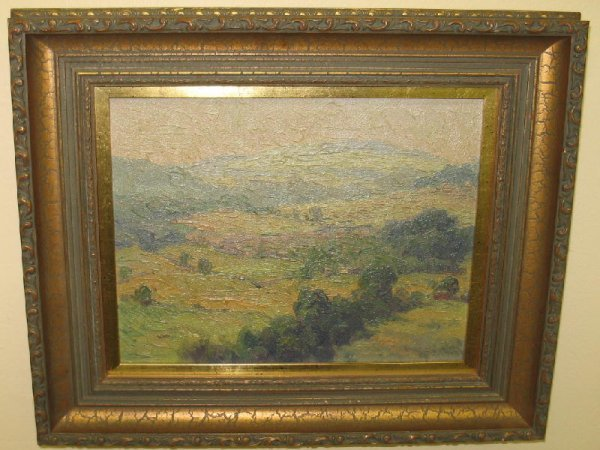 21: OIL ON BOARD PAINTING. Attributed to, and from the