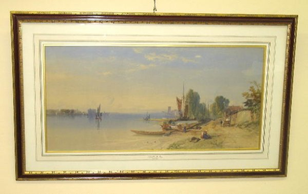22: WATERCOLOR PAINTING BY RICHARDSON. On paper, signed