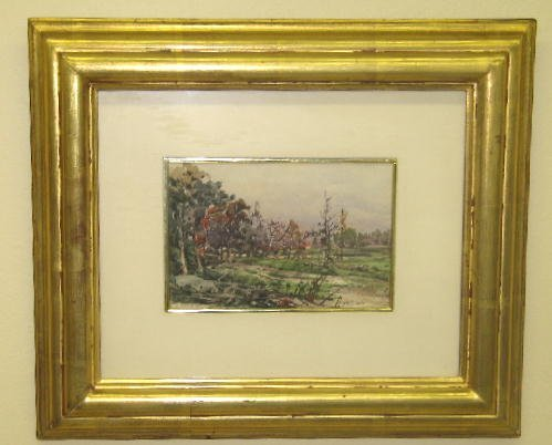 24: WATERCOLOR PAINTING BY SONNTAG. On paper, signed lo