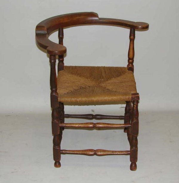 COUNTRY CORNER CHAIR Spanish brown paint on maple