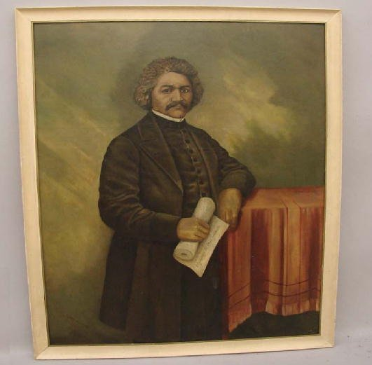 440: PORTRAIT OF FREDERICK DOUGLASS BY CLARKE HAMPTON.