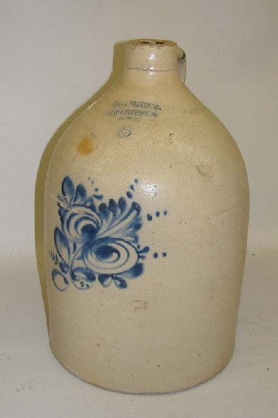"448: STONEWARE JUG. Marked ""Dean Foster & Co / 14 [?} A"
