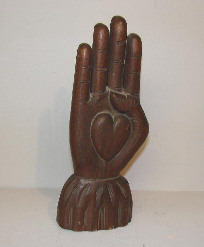 LODGE STAFF. Pictured is the heart in hand finial