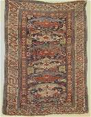 749: ORIENTAL RUG. ----. Ivory border with figures and
