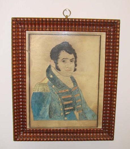2: WATERCOLOR PORTRAIT OF A NAVAL OFFICER