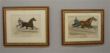 418 TWO HANDCOLORED CURRIER  IVES LITHOGRAPHS