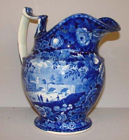 561: HISTORICAL BLUE STAFFORDSHIRE PITCHER. Views