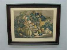 729 HANDCOLORED LITHOGRAPH BY CURRIER  IVES Large fo