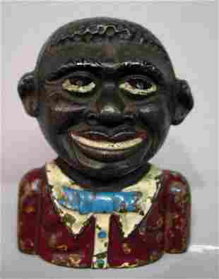 """CAST IRON BANK. """"The Young Nigger Bank"""", Moore #170."""