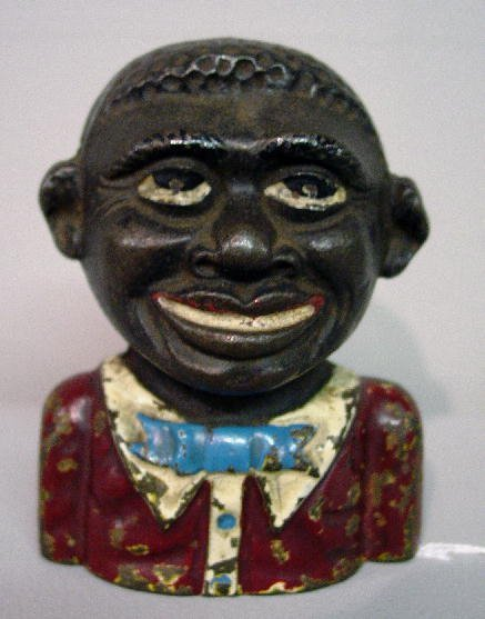 """9: CAST IRON BANK. """"The Young Nigger Bank"""", Moore #170."""
