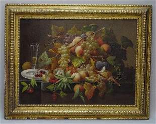 FINE OIL ON CANVAS PAINTING. Still life from the S