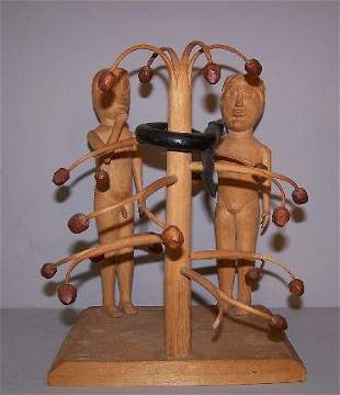WOOD CARVING BY EDGAR TOLSON. The Temptation of Ad