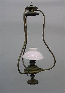 HANGING SHIP'S GIMBAL LAMP. From a ship on Lake Er