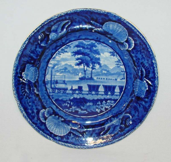 1: HISTORICAL BLUE STAFFORDSHIRE PLATE.