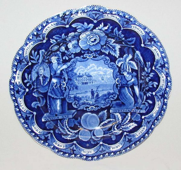 2: HISTORICAL BLUE STAFFORDSHIRE PLATE.