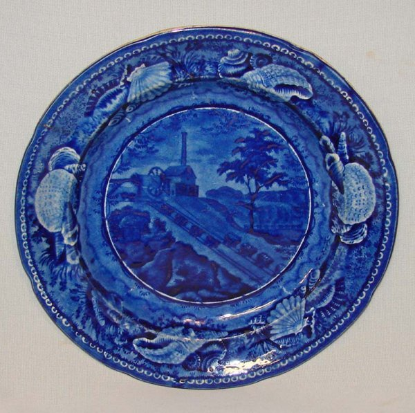 3: HISTORICAL BLUE STAFFORDSHIRE PLATE.