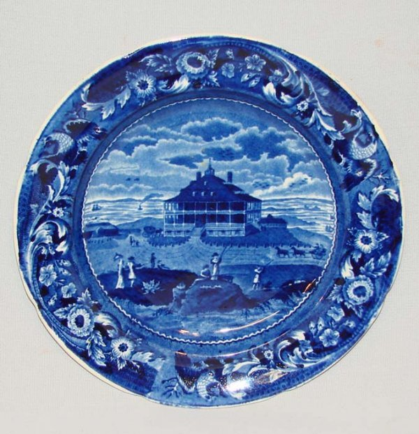 4: HISTORICAL BLUE STAFFORDSHIRE PLATE.