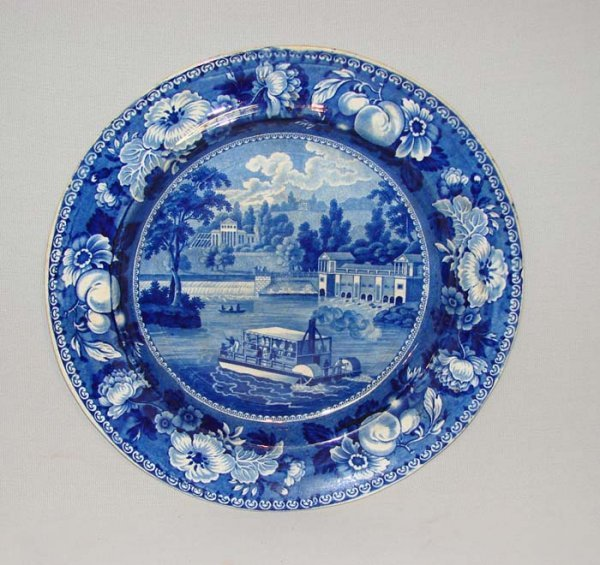 6: HISTORICAL BLUE STAFFORDSHIRE PLATE.