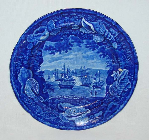 8: HISTORICAL BLUE STAFFORDSHIRE PLATE.
