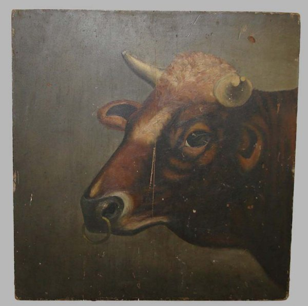 14: PAINTING OF A BULL.