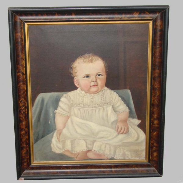 19: PORTRAIT PAINTING OF BABY.