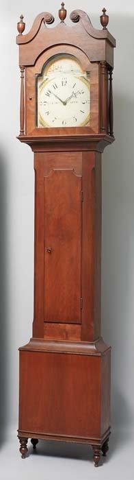 451: FINE OHIO TALL CASE CLOCK.