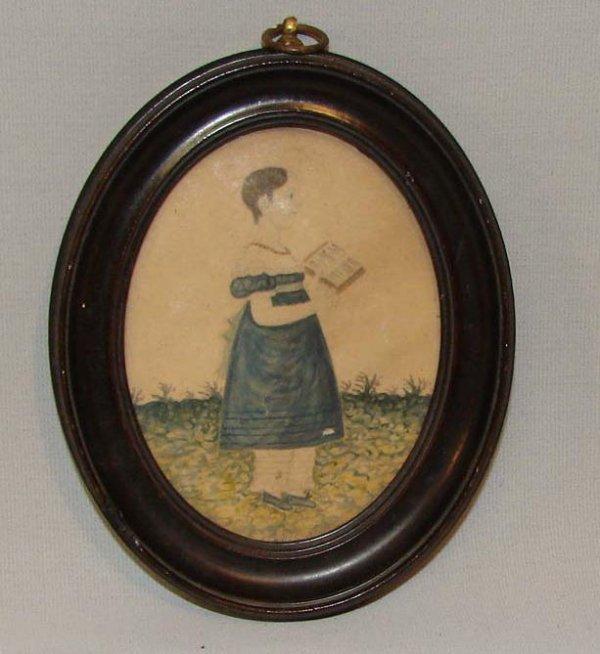 459: WATERCOLOR PORTRAIT OF A CHILD.