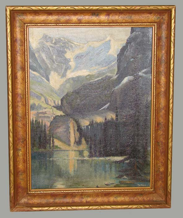 463: LANDSCAPE PAINTING BY HENRIETTA MAY.