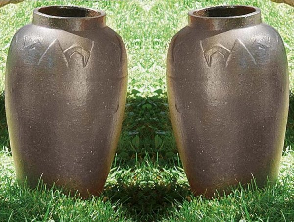 497: TWO SEWERTILE VASES.