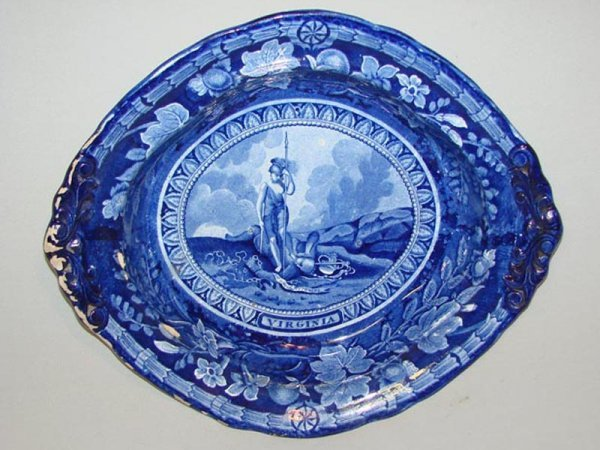 2: HISTORICAL BLUE STAFFORDSHIRE VEGETABLE. England, 18