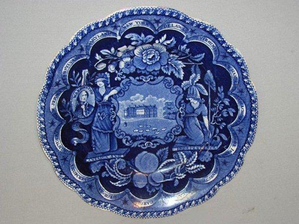 3: HISTORICAL BLUE STAFFORDSHIRE PLATE. England, ca. 18