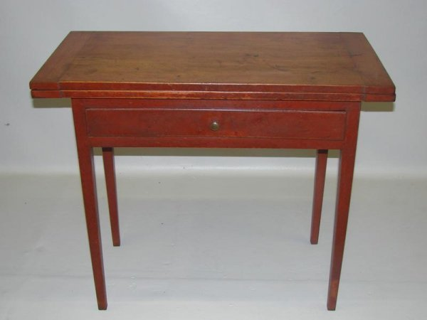 8: PAINTED COUNTRY CARD TABLE. New England. Early 19th