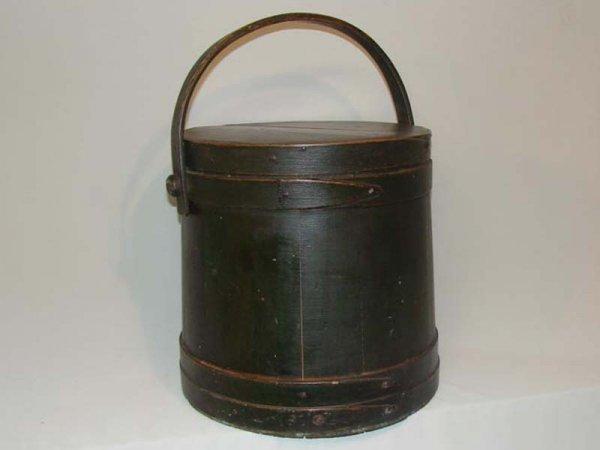 9: PAINTED SUGAR BUCKET. American, 19th Century. Wooden