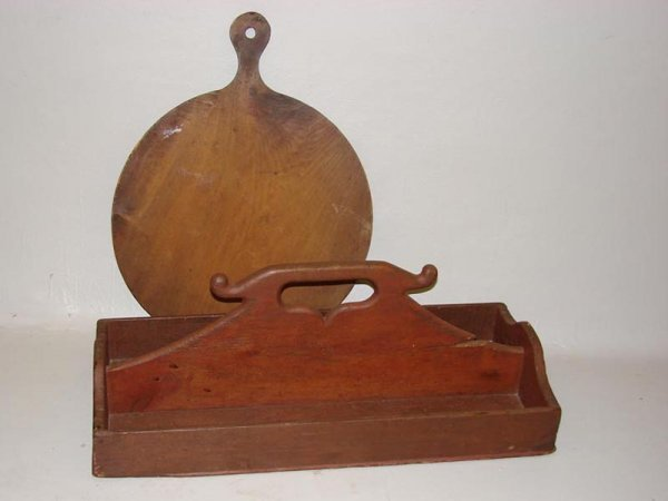 20: TWO WOODEN PIECES. Late 19th Century/early 20th Cen