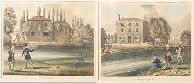 172 TWO EARLY FISHING PRINTS Both English handcolore