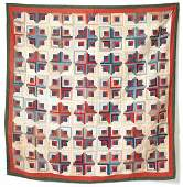 302 PIECED QUILT Late 19thearly 20th Century Cotton