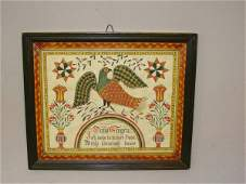 366 FRAKTUR BY SHELEY Watercolor house blessing with