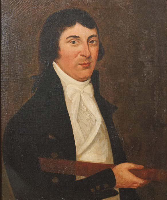 516: PAINTING OF A SEA CAPTAIN. Portrait identified as