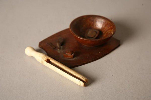 528A: SAILOR ART CLOTHES PIN. American, 19th Century. C