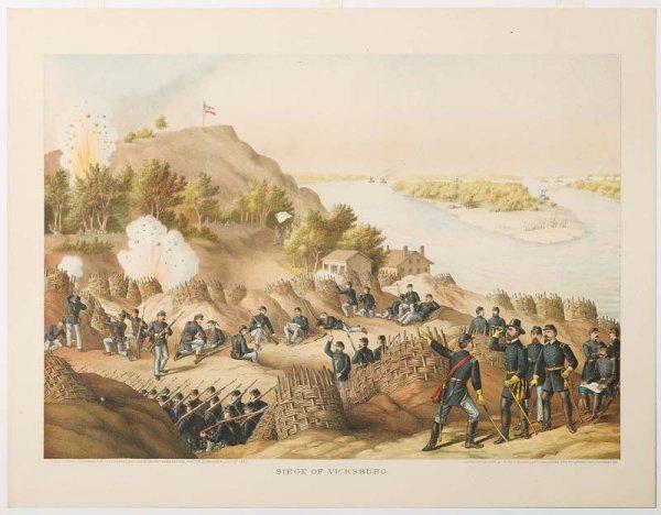 761: KURZ & ALLISON: SIEGE OF VICKSBURG. Surrender date