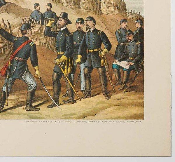 761: KURZ & ALLISON: SIEGE OF VICKSBURG. Surrender date - 2