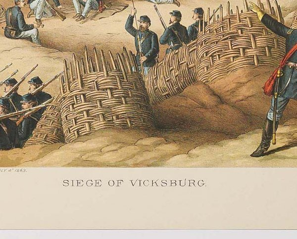 761: KURZ & ALLISON: SIEGE OF VICKSBURG. Surrender date - 3